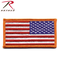 ROTHCO American Flag Patch - Hook Back - Reverse - Red