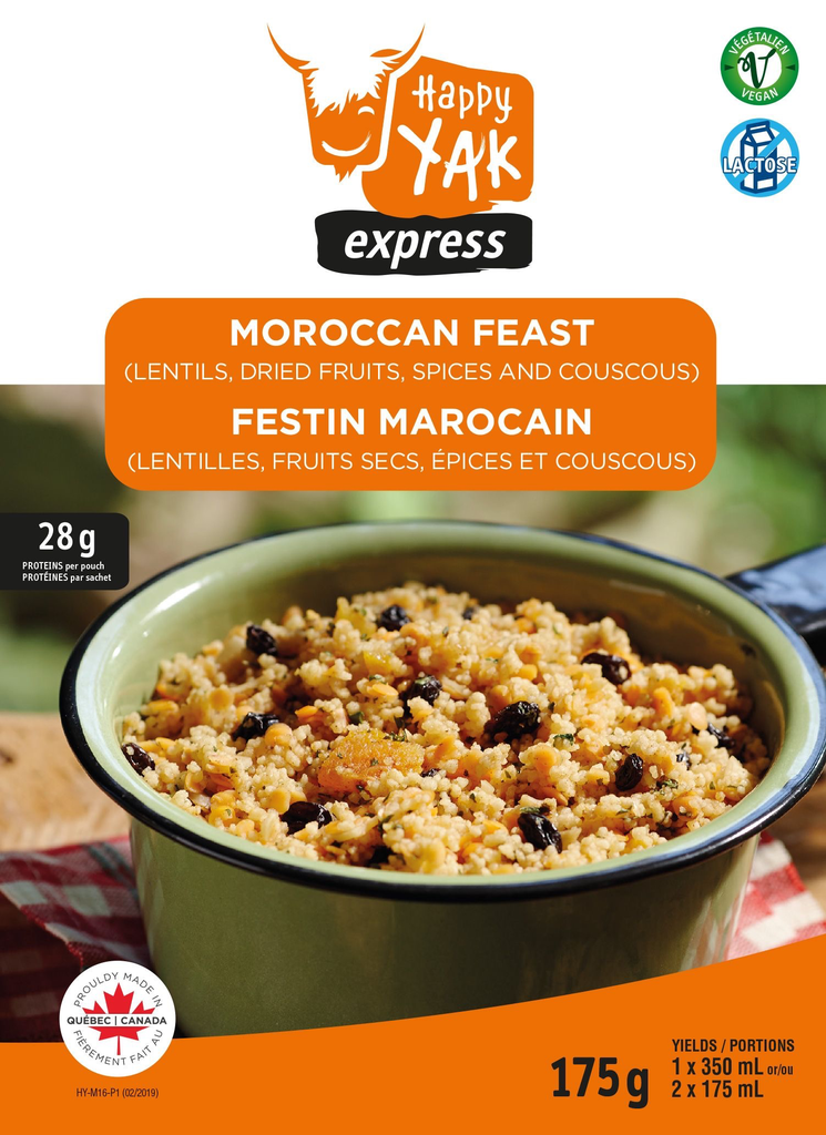 HAPPY YAK Moroccan Couscous and Lentils, Vegan, Lactose Free