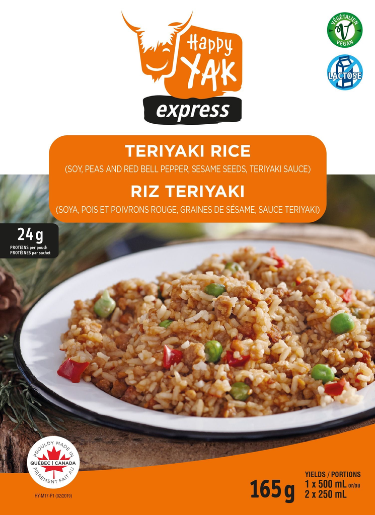 HAPPY YAK Teryaki Rice, Vegan, Lactose Free