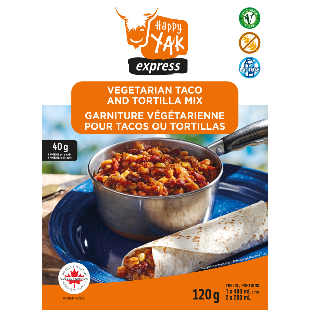 HAPPY YAK Taco & Tortilla Vegetarian Mix (vegan, gluten free, lactose free)