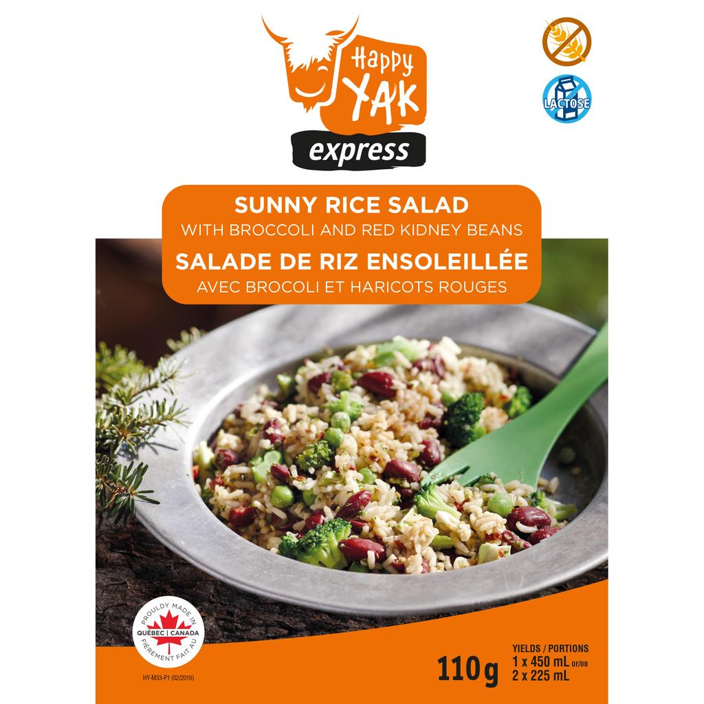 HAPPY YAK Sunny Rice Salad+ Broccoli & Kidney Bean Gluten & Lactose Free