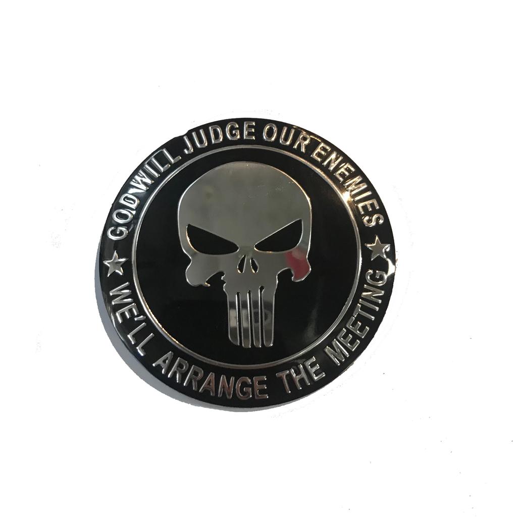 Proactive Distribution Punisher Skull Sticker Round