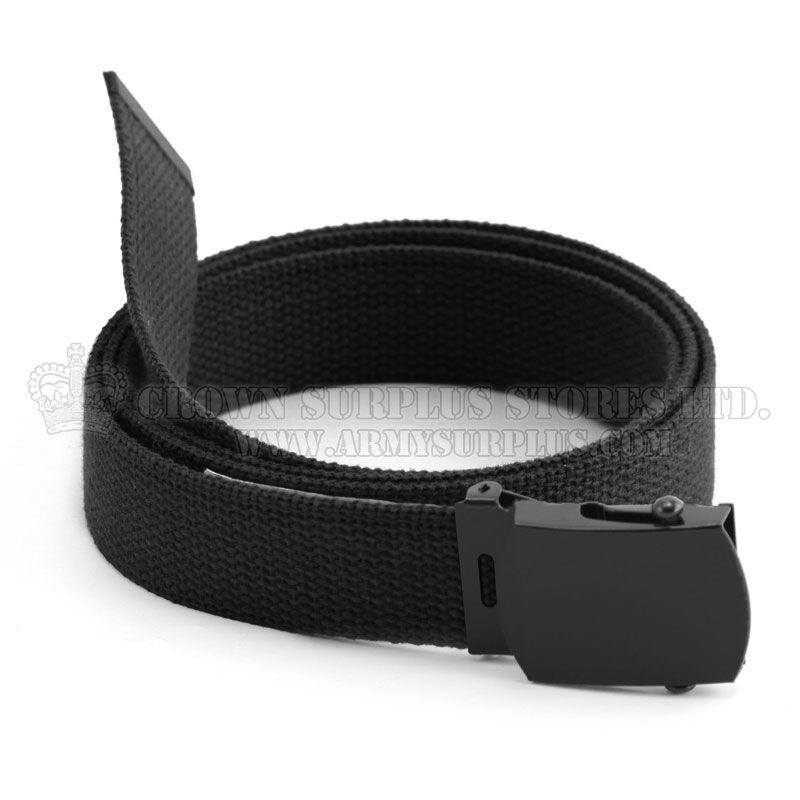 ROTHCO Belt - Nylon Web - Black Buckle - Black - 54''