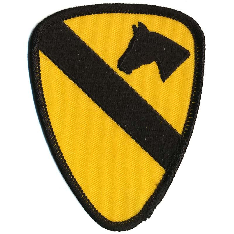 Patch, US 1st Cavalry Div., Yellow