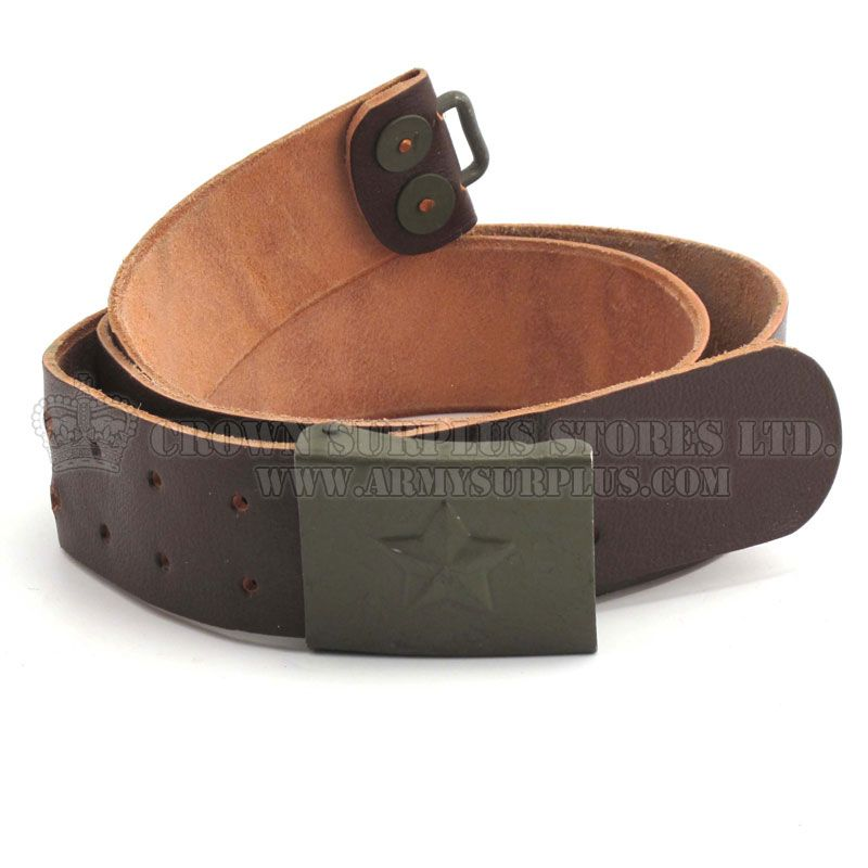 GENUINE SURPLUS Belt - Leather - Czech Army Issue