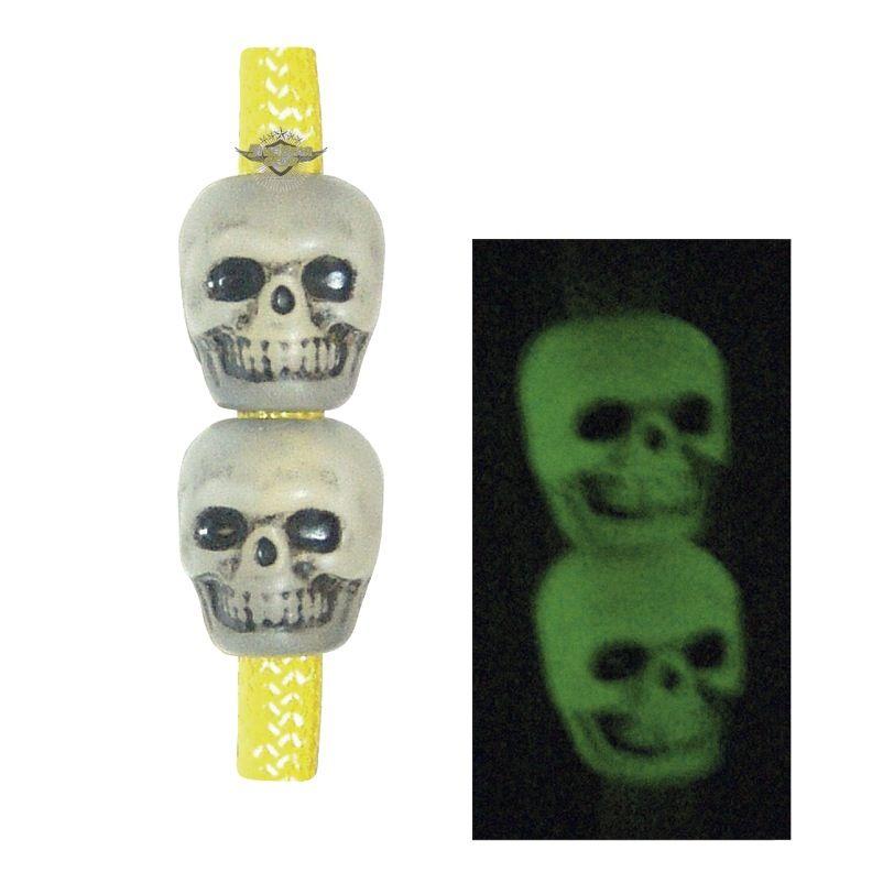 TRU-SPEC Skull Beads, Antique Ivory