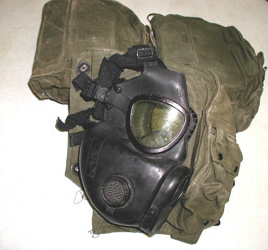 GENUINE SURPLUS Gas Mask - US M-17A1/A2