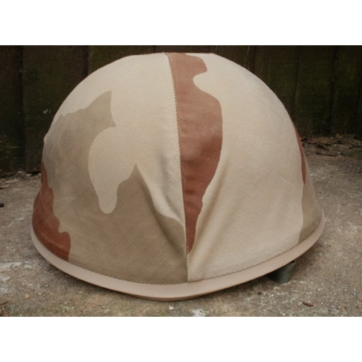 GENUINE SURPLUS Helmet - French M-78 F1 - w/ Desert Camouflage Cover