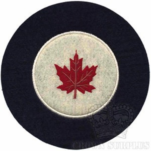 RED CANOE Patch - RCAF Roundel - Felt [1946-1965 era]