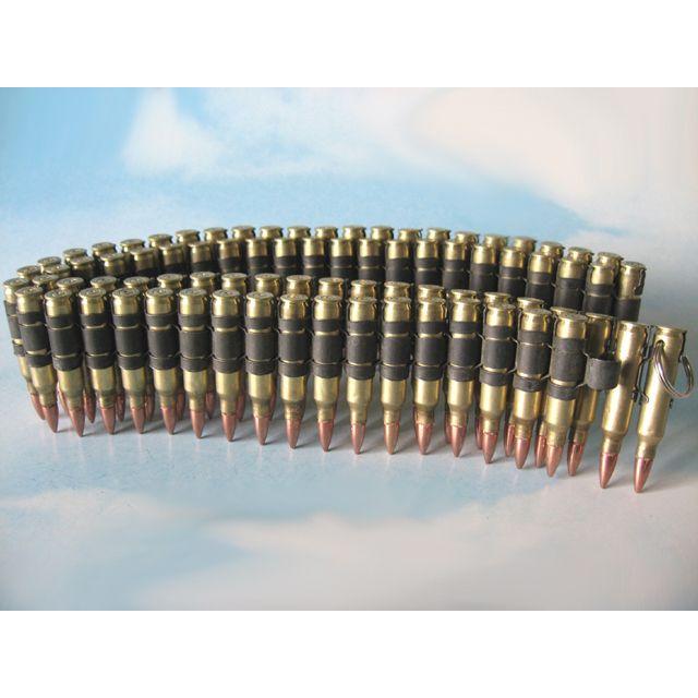 .223 Dummy Belt, Brass Case and Copper Bullet, Black Links