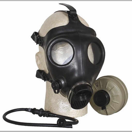 GENUINE SURPLUS Israeli Civilian Gas Mask, Complete Kit, Cannister and Filter included