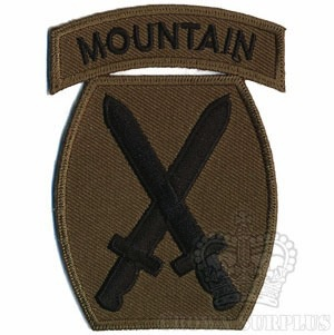 Patch, US 10th Mountain Div., Woodland