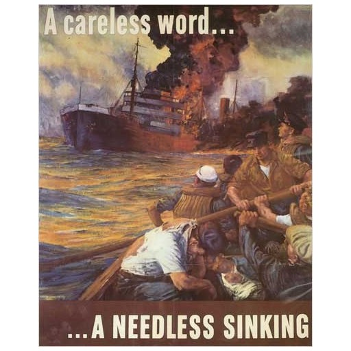 Poster - A Needless Sinking - 1942 - Giclee Print on Photo Paper