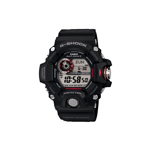 G-Shock Introducing RANGEMAN, the latest addition to the Master of G series of tough and rugged timepieces that are designed and engineered to stand up to the most grueling conditions imaginable. RANGEMAN employs a Shock Resistant Triple Sensor, which makes it ca