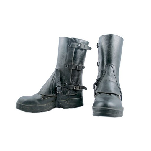 GENUINE SURPLUS Swiss Leather Gaiters