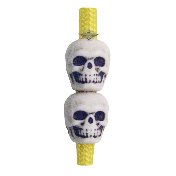 TRU-SPEC Skull Beads, Antique Ivory