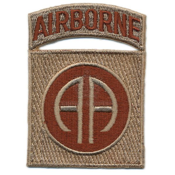 Patch, US 82nd Airborne Div. ''All-American'', Arid