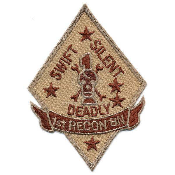 Patch, USMC 1st Reconnaissance Battalion, Arid