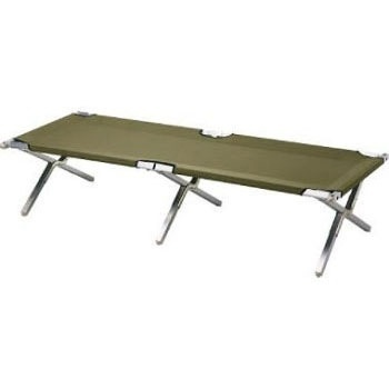 GENUINE SURPLUS Cot, Folding, Camp, Heavy Duty Aluminium, US Type [NEW]<br /> Import