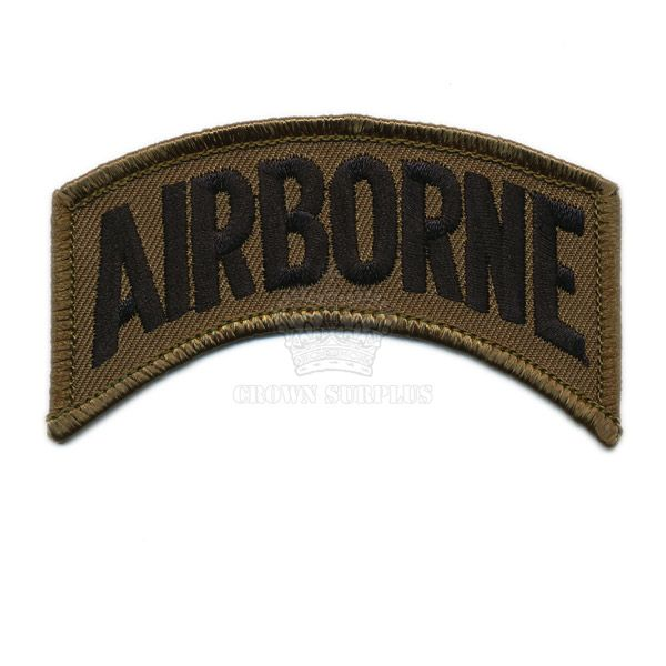 Patch, Airborne, [Subdued Flash], OD