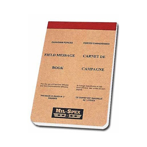 MILSPEX, Canadian Type Field Message Book