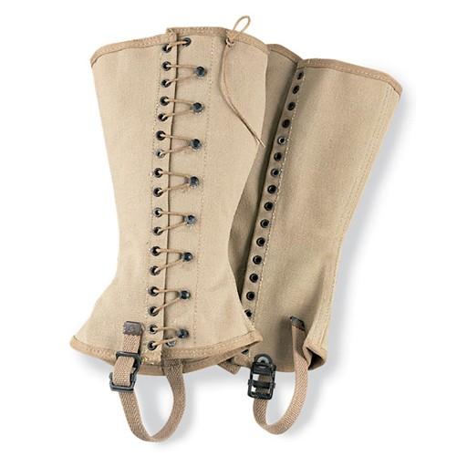 GENUINE SURPLUS Gaiter - US Army - Cotton/Canvas - Khaki - New - Size 4 Only