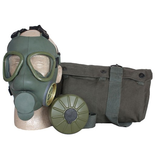 GENUINE SURPLUS Serbian M-59 Gas Mask, Complete Kit
