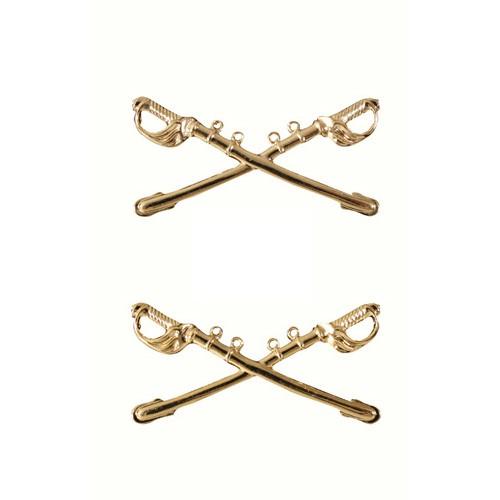 Pin - US - Insignia - Cavalry Swords - Gold