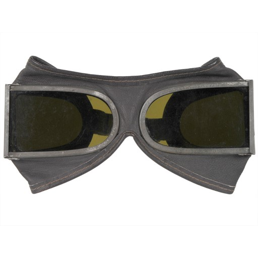 GENUINE SURPLUS Goggles - Mountain Troop - Chinese Issue - C/W Leather Carrying Case
