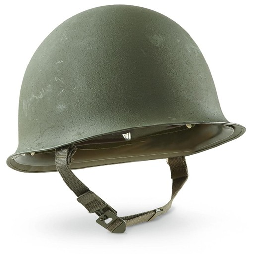 GENUINE SURPLUS Helmet, M-51, French, Olive Drab