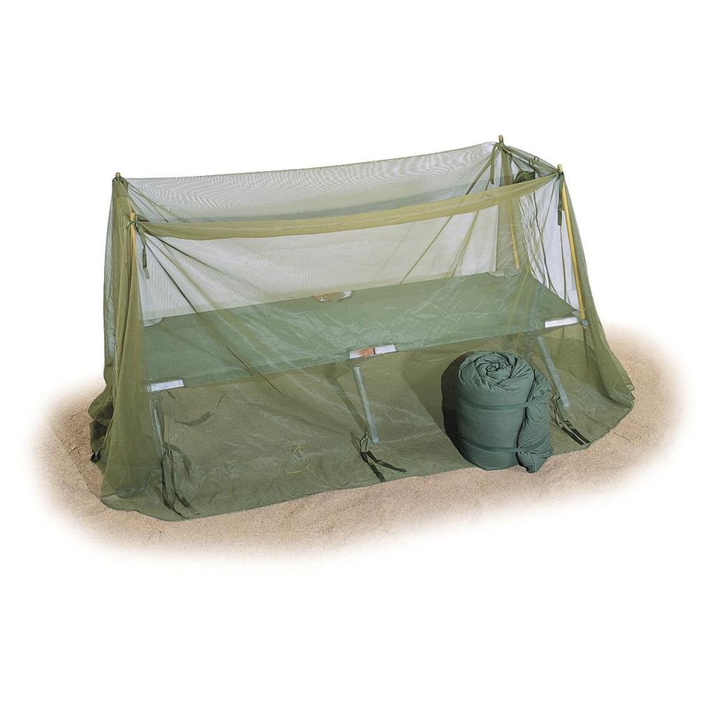 GENUINE SURPLUS Cot, w/ Mosquito Bar,Camp, Carrying Bag