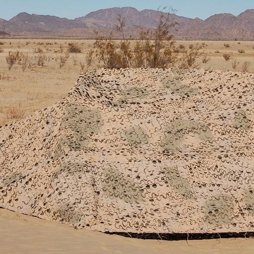 GENUINE SURPLUS Netting - Camouflage Desert - New Type - Sun Shade - Complete 2- Piece - Geniune Issue