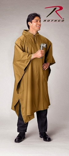 ROTHCO RIP-STOP PONCHO - Coyote<br />