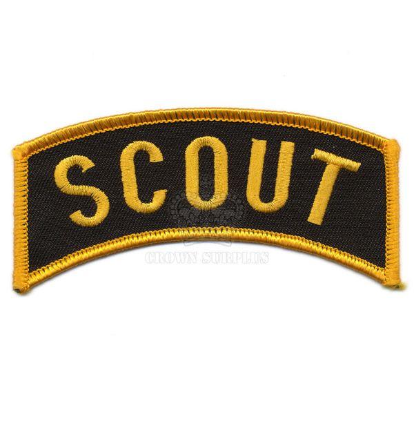 Patch, Scout, Shoulder Flash, Gold/Black