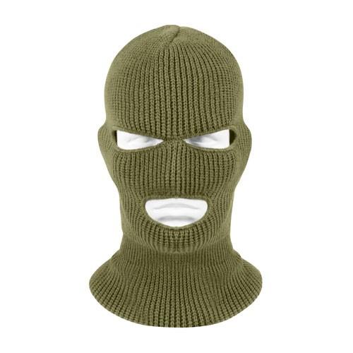 ROTHCO Face Mask - 3-Hole Balaclava - 100% Acrylic - Olive Drab