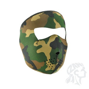 ZAN ZAN Headgear, Neoprene Full Mask, Woodland Camo