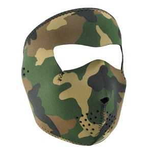 ZAN ZAN Headgear, Tactical Neoprene Full Mask, Woodland