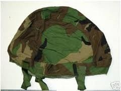 GENUINE SURPLUS Cover - Helmet - Woodland - Geniune Issue - Kevlar - S-M -