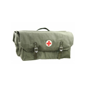 Swedish Bicycle Bag, Red Cross, Canvas