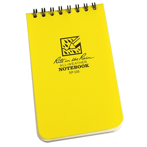 RITE IN THE RAIN Rite in the Rain, Universal Polydura Notebook, 3'' x 5'', Yellow