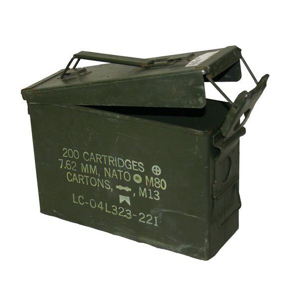 GENUINE SURPLUS Container, Ammo Box, 30 Cal.