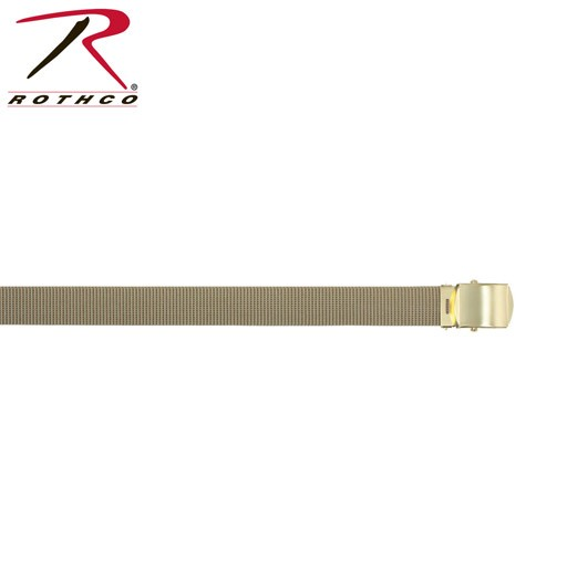 ROTHCO Rothco Nylon, Web Belt Khaki with Brass Buckle