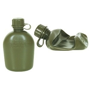 GENUINE SURPLUS Canteen, Us Issue, Collapsible, 1 QT, Coyote