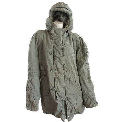 GENUINE SURPLUS CWU 8/P Parka, Air Force Green Used, Medium