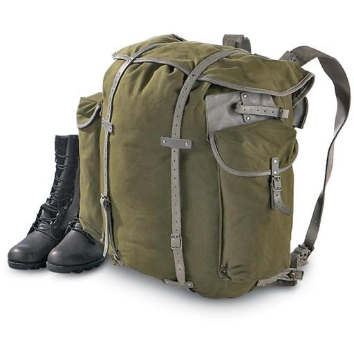 GENUINE SURPLUS Backpack, Norwegian, Canvas Used Pack