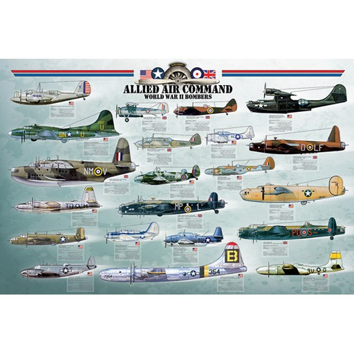 EUROGRAPHICS Poster - Allied Air Command WWII Bomber