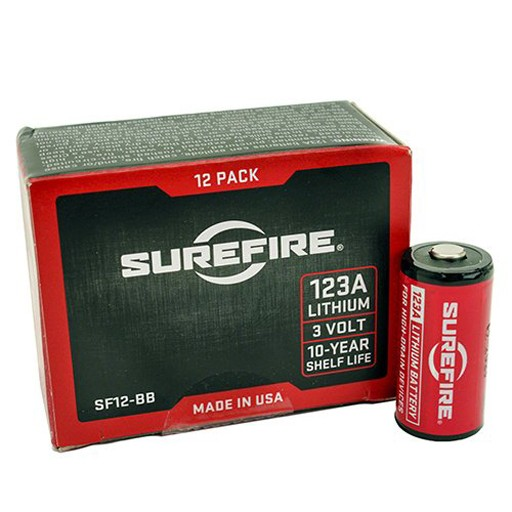 SUREFIRE SureFire, CR123A Lithium Batteries, Box of 12