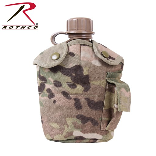 ROTHCO Rothco G.I Style Molle Canteen Cover, Multicam