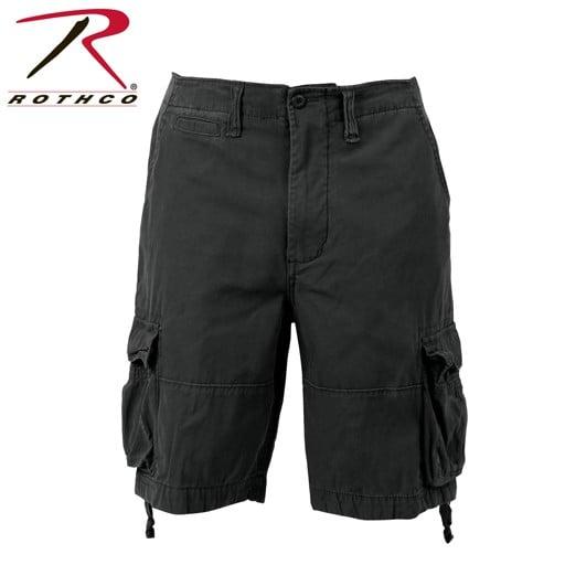 ROTHCO Rothco, Solid Vintage Infantry Utility Shorts, Black