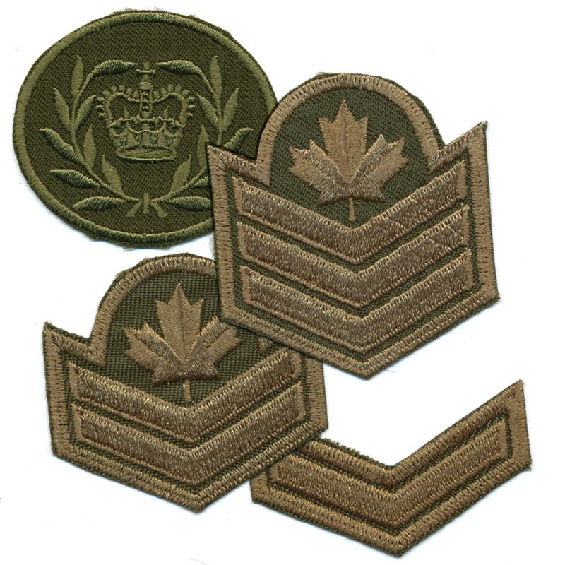 Canadian Forces Style Rank Patch Pair